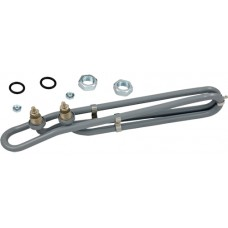 Flo-thru hot tub heater coated heater element